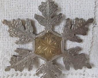 Buccellati #139 Sterling Silver Snowflake Ornament