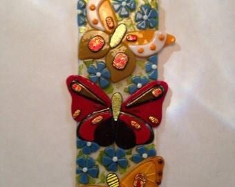 Butterflies Suncatcher, Fused Glass, Item 1166