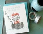 Sailor Love Letterpress Note Card