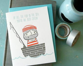 Sailor Love Letterpress Note Card