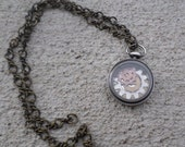 Pocket watch pendant necklace