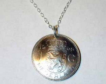 Coin necklace~Netherland lion necklace- free shipping