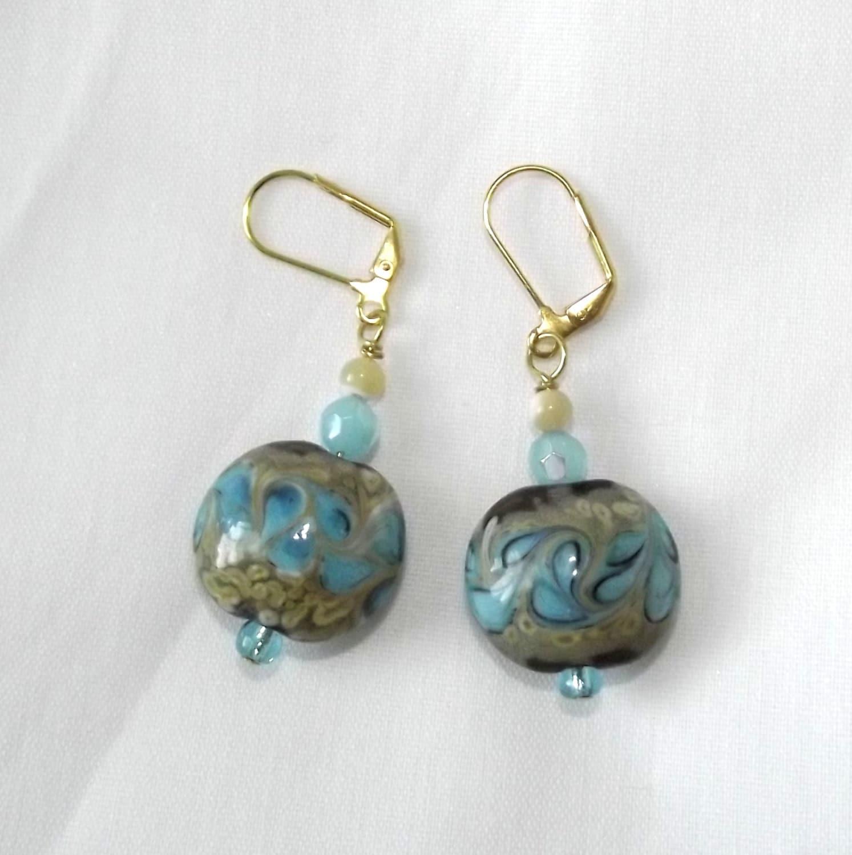 Artisan Earrings : Handmade beaded earrings artisan jewelry lampwork glass beads