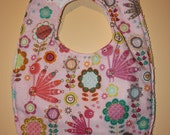 Lovely Peacock Bib - MADE TO ORDER