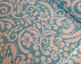 SALE Upholstery Fabric beautiful home decor fabric - Silhouette in Blue -You Choose the Cut. Free Shipping Available
