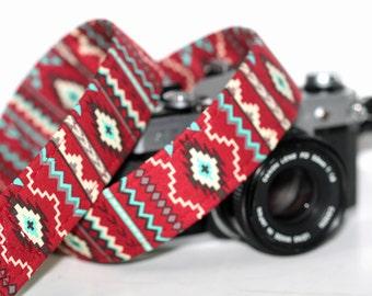 Aztec Camera Strap - Tribal, Southwestern - Camelback