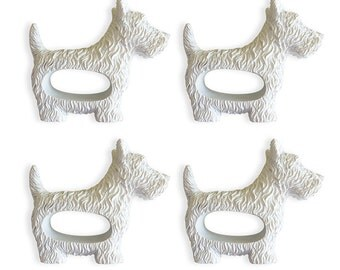 SPECIAL EDITION - Set of Four: West Highland Terrier Napkin Rings