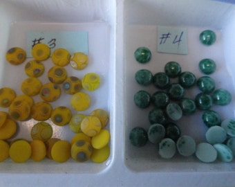 Choose your 6 or 7mm Vintage Glass Stones 12 pcs. 4 to choose from VL 26