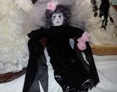 Original Sha Bebe Cloth Doll Made by Cajun Doll Artist, Mary Lynn Plaisance in  Louisiana. Art doll collectibles.