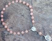 St. Therese Chaplet of Rose Quartz Gemstones