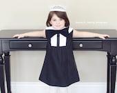 1960's Style Retro Black Bow Dress children child clothing