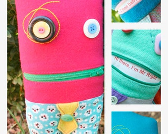 Zipper Mouth Monster Sewing Pattern