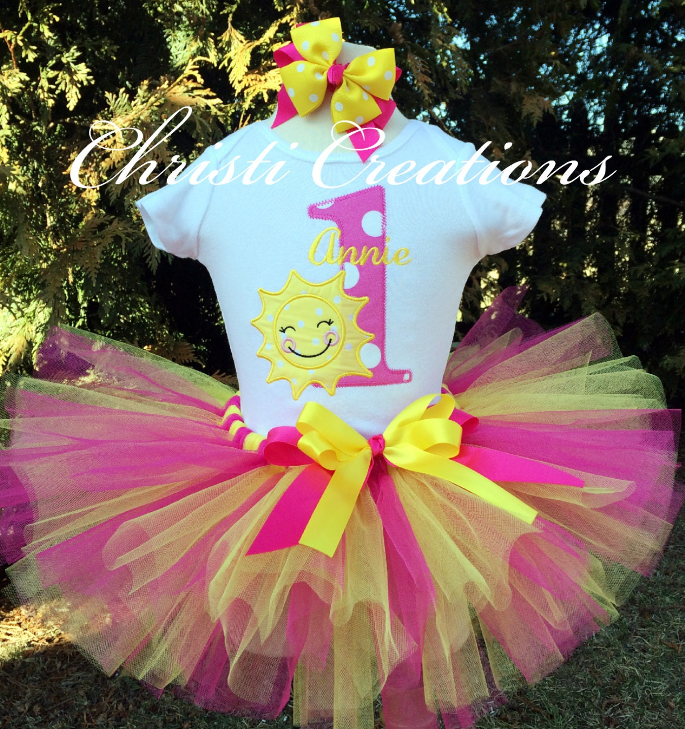 You Are My Sunshine Birthday Outfit Baby Girl Tutu 1st