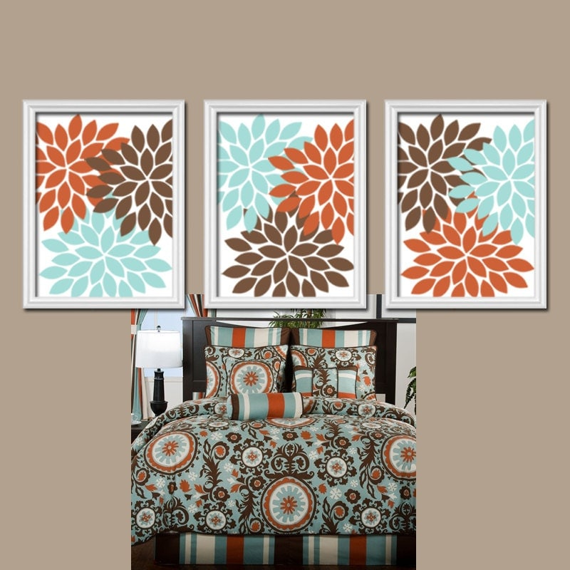 Orange Brown Wall Art Bedroom Pictures CANVAS Or Prints
