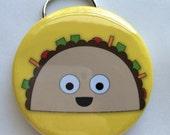 Happy Taco Bottle Opener Keychain 2.25 inches