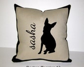 BOSTON TERRIER Personalized Pillow - 2 Designs Available - Custom, Handmade, One-of-a-Kind