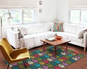 Decorative Rug, modern rug, R2D2 rug, carpet, star wars rug, contemporary rug, nursery decor, kids rugs, boyfriend gifts, bedroom rugs