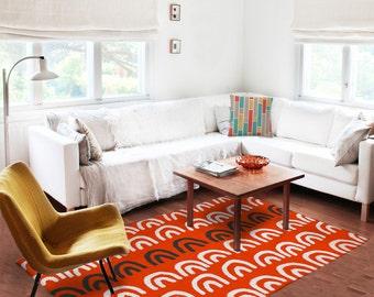 Red Living Room Rug Etsy