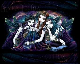 Seraphina Celestial Ethereal Nebula Fairy Angel Signed Fine Art Print