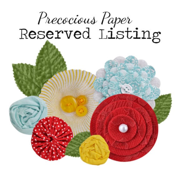 Reserved for MyHillsideHome - Pink and Grey Floral - Fabric and Felt Flower Embellishments