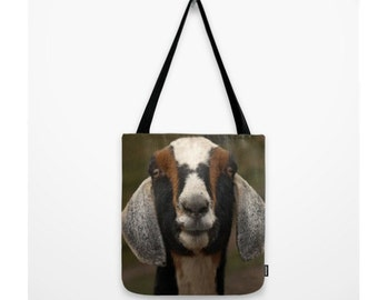 Smiling Goat Bag Woodland Forest Brown Goat White Tan Goat Purse Sweet Creatures Woodland Creature
