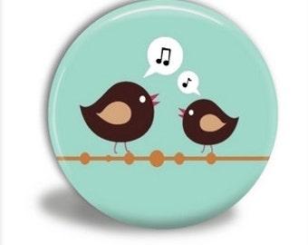 Bird Pocket Mirror, Bird Mirror - PM009