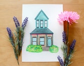 Custom House Portrait - Personalised Illustration of your Home
