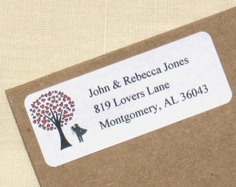 Wedding Couple Address Labels - Choose Couple