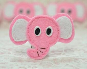 Set of 6pcs handmade felt elephant--baby pink (FT960)
