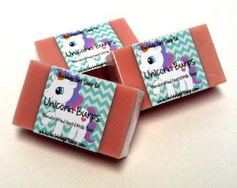 Unicorn Burps Candy Scent Mini GUEST BAR SLS Detergent Free Goat's Milk Soap