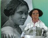 Black History Art Doll Miniature Madam C.J. Walker Sarah Breedlove Art Character