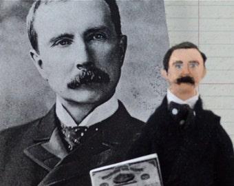 John D. Rockefeller Doll Miniature Tycoon Art Character Historical Men