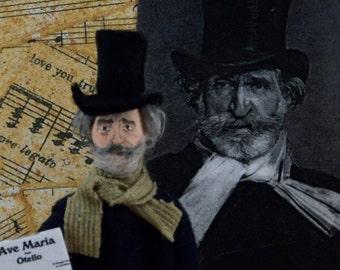 Guiseppe Verdi Composer Art Doll Miniature Musician Character