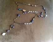 Vintage Beaded Long Chain Necklace