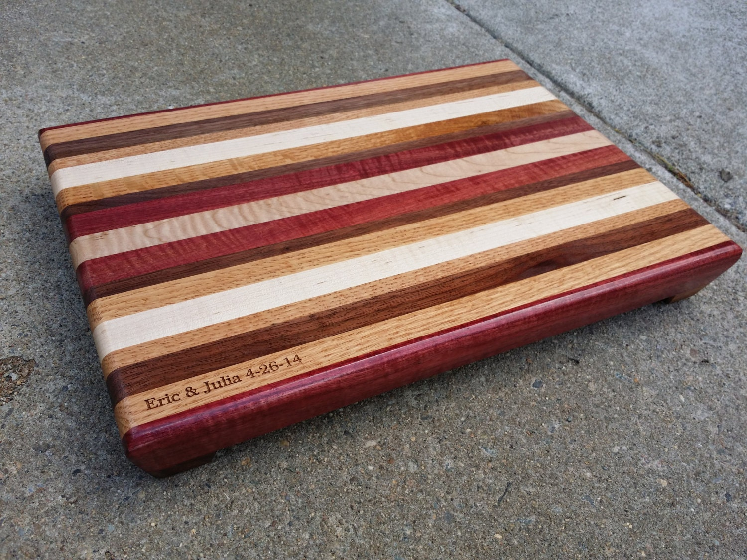 Small Engraved Cutting Board Personalized Wedding Gift