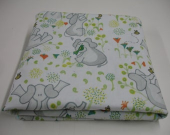 Ellies Playground Elephant Minky Baby Blanket MADE TO ORDER