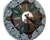 SteamPunk Clock Ooak Functional Art Original Mosaic Steam Punk