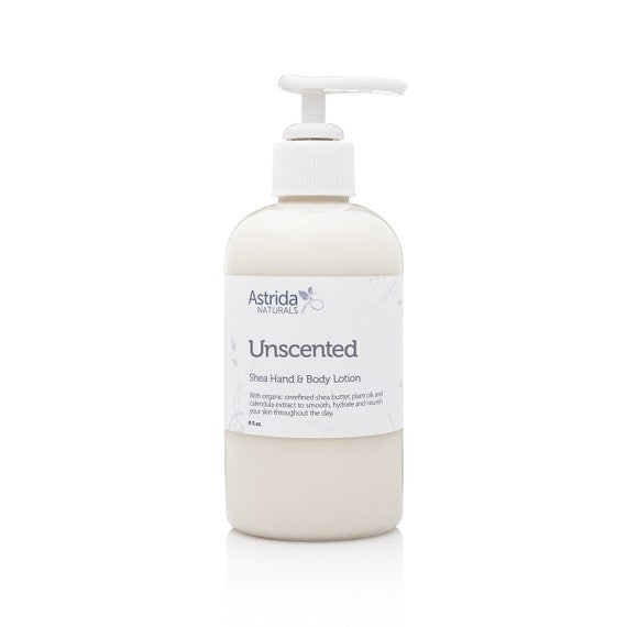 Unscented Shea Hand and Body Lotion with Organic Unrefined Shea Butter