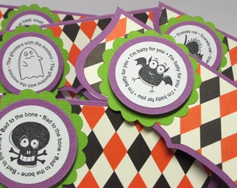Halloween Treat Bag Toppers - bags included 6