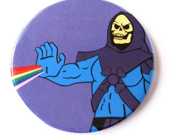 Skeletor Magnet // MOTU Inspired Fan Art Collage // Masters of the Universe Magnet
