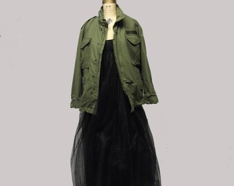 Vintage ROTC olive army green military coat jacket