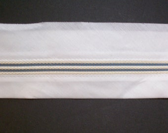 Men's White Waistband with Ban Roll and Snug Tex Rubber Banding 2 3/4 inch wide x 3 yards