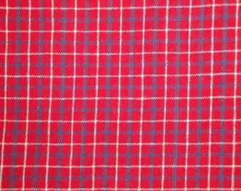 Red White Blue Cotton Homespun |  Destash Fabric | Americana Fabric  | 1 Yard