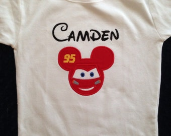 Custom Lightning McQueen Mickey Mouse Tee