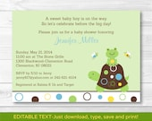 Turtle Baby Shower Invita...