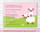 Cute Pink Baby Lamb Baby ...