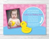 Cute Pink Rubber Duck Bir...