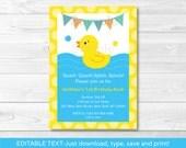 Rubber Duck Birthday Invi...