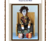 Luther The Folkart Doll Loves The Fall and His Pumpkins E-Pattern
