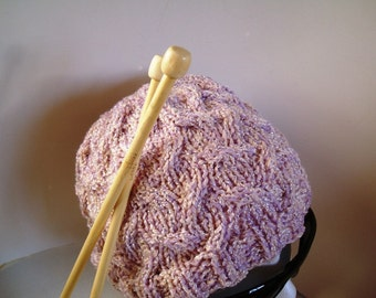 pdf Knitting Pattern for Phable Open Cable Knit Hat -- PATTERN